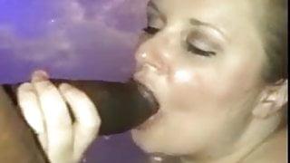 delicious blond wife suck big black tasty cock