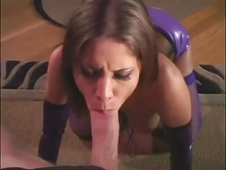 Shiny penis patch skin Brunette fucks in a shiny latex corset and fishnets