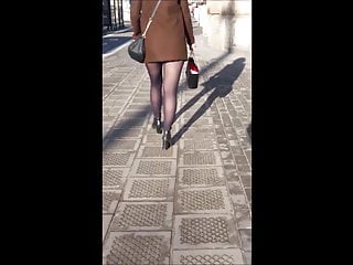 Woman legs in pantyhose - 1 woman with sexy legs