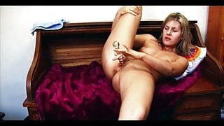 Dildoing to a gasping orgasm