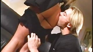 Sexy bitch getting her pussy fucked while being watched by a girl