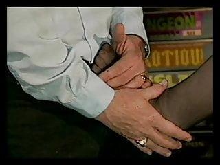 Foot job nylon thumb Babe in nylons give foot job