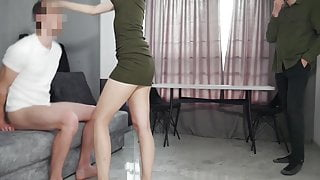 I was fucked by a lover in front of my husband!