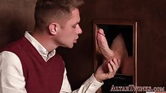 Priest gets big cock sucked and bangs