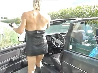 Outdoor sex amateur - Leather slut with rosebud love outdoor sex