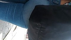 Jeans ajustados.
