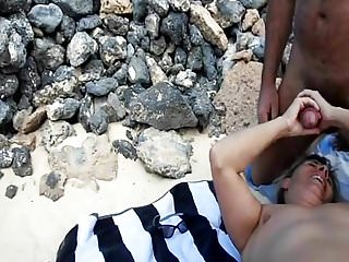 Nudist incest Lisa - troisieme amant sur la plage cuckold