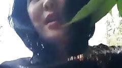 Risky sex at public park mature asian lady ride Russian dick