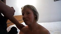French mature Nelly analfucked in front of her husband