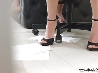 Can she pee during sex She is nerdy - michelle can - nerdy secretary dped at work