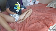 Babe Plays With Pussy Through Panties - Sensual Solo