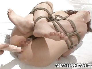 Asian beauty fuck Asian beauty tied up and fucked with a good orgasm