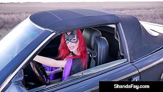 Super Heroin Wife Shanda Fay Blows Cock On Side Of the Road!