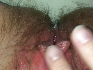 Young orgazm Fat belly hairy pussy orgazm