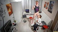 TUTOR4K. Man fucks sexy mature professor blackmailing esteem
