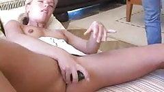 Hot Blonde Masturbating With Cucumber