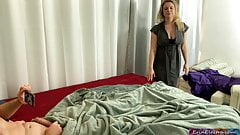 Stepmom catches stepson masturbating addicted to porn