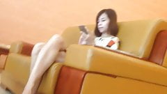 Candid Asian Shoeplay Dangling Feet & Legs Vietnamese