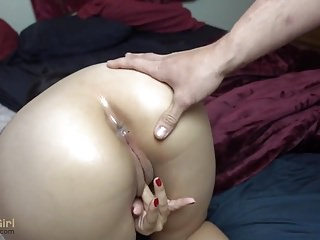 Virginity lost on camera - Shaved asian girl lost anal virginity