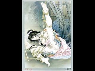Extreme bdsm drawing Japanese sm bondage-traditional drawing art-02-ozuma kaname