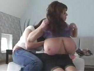 Adult breastfeeding undo nursing bra - Mature milf huge natural tits purple nurse bra