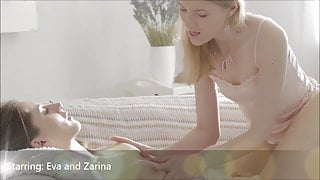 Naughty Lesbian Teens Zarina and Eva, Intense Orgasms