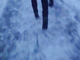 Voyeur rtp snow - High heels on street, snow and ice