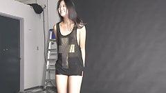 Asian Girl photo session underwear
