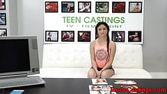 Teen facialized and hardfucked at casting