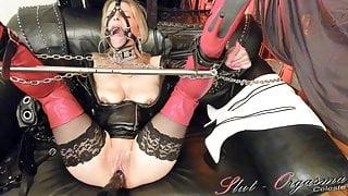 Slave Slut-Orgasma Celeste Fuck-Machine torture and squirt