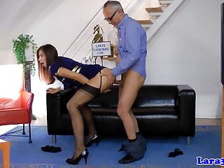 Ffm threesomes porn videos - British stockings milf creampied in ffm