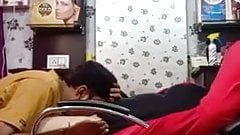 BEAUTY PARLOR OWNER LICKS CLIENT PUSSY CLEAR  HINDI AUDIO