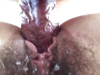 Barbara bush bisexual Pussy juice on wifes bush