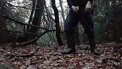 Second wank in the same day, almost no cum, wearing wellies