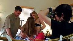 Dude Films Young FFM Orgy With His Hot Bisexual not sister