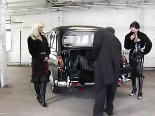 Gangster porn galleries - Gangster bitches fuck one slave with strapon