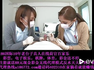 Gloves latex nurse snap Japanese nurses in latex gloves teasing patient