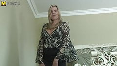 Sexy Canadian not mother aka MILF shows her goods and