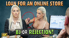LOAN4K. Busty blonde Blanche gives herself to loan agent in