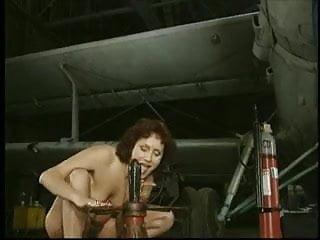 Garage in sex Mature airplane garage toying