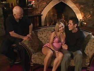 Saran wrap milf - Stunning blonde housewife wraps her lips around a hard cock then fucks