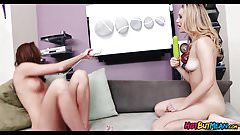 Girls have fun with Dildos and Massagers