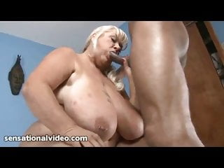 Cock huge suck - Gilf with huge tits loves to suck big black cocks
