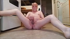 Playing with my nice cock and pissing of course.