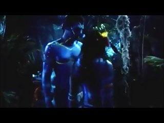Alien cock in pink pussy Navi orgy
