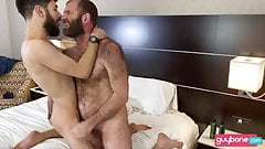 Bearded Hirsute Dad-Hairy Ass Son: BJ-RIM-BB-SEEDING -FACIAL