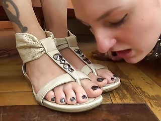 In her shoes sex scene Russian mistress gets her shoes and feet licked clean