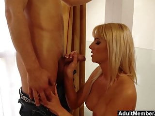 Cock grew longer Blonde bianca cant wait any longer to fuck