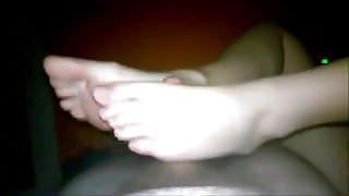 hot footjob by ex gf