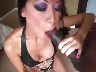 Milf throat fucking - Asian milf interracial rough throat fucking bbc